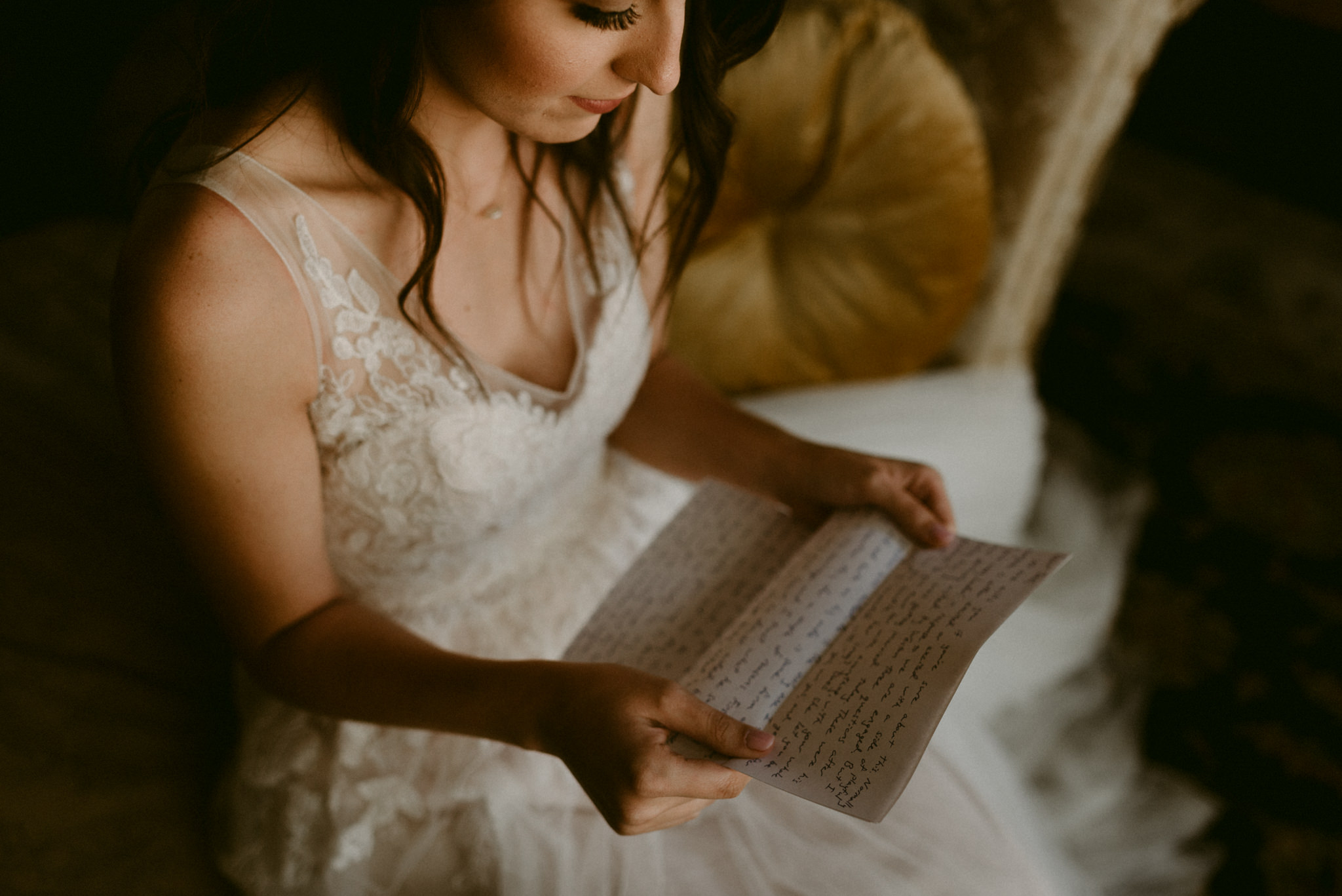Intimate-Cathedral-Oaks-Wedding-Letter-Exchange-Getting-Ready-Kerlyn-Van-Gelder-Photography-Austin-Wedding-Photographer