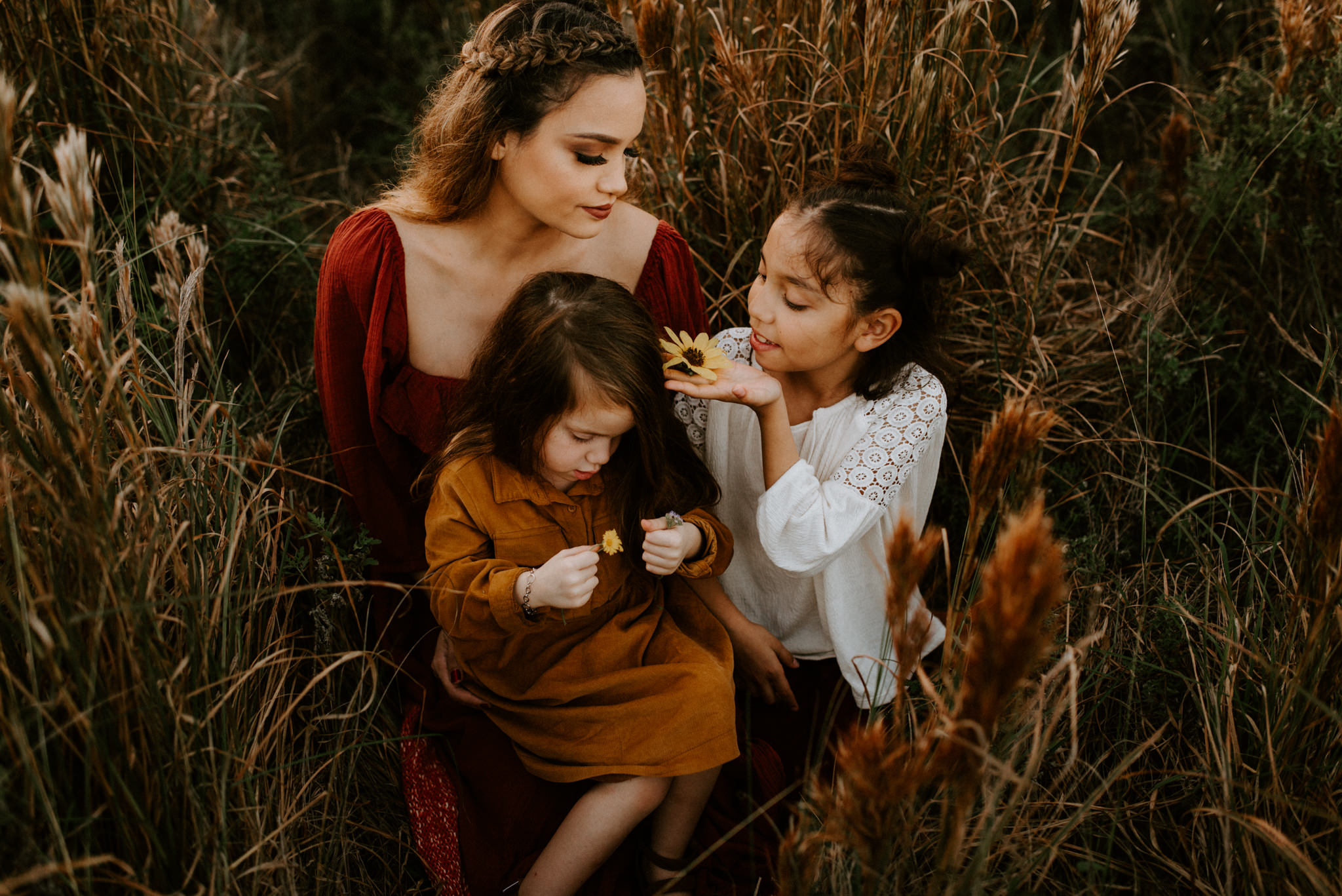 grassy-field-with-flowers-fall-family-session-Kerlyn-Van-Gelder-Photography-Corpus Christi-Photographer