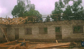 2007 - building the roof