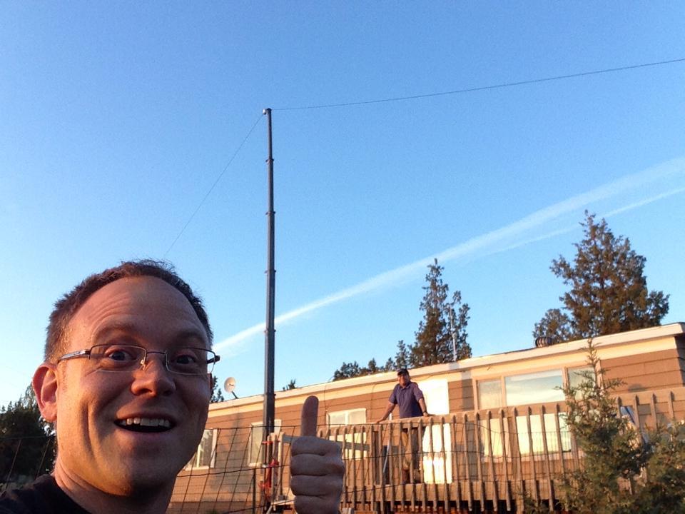First HF antenna installed!
