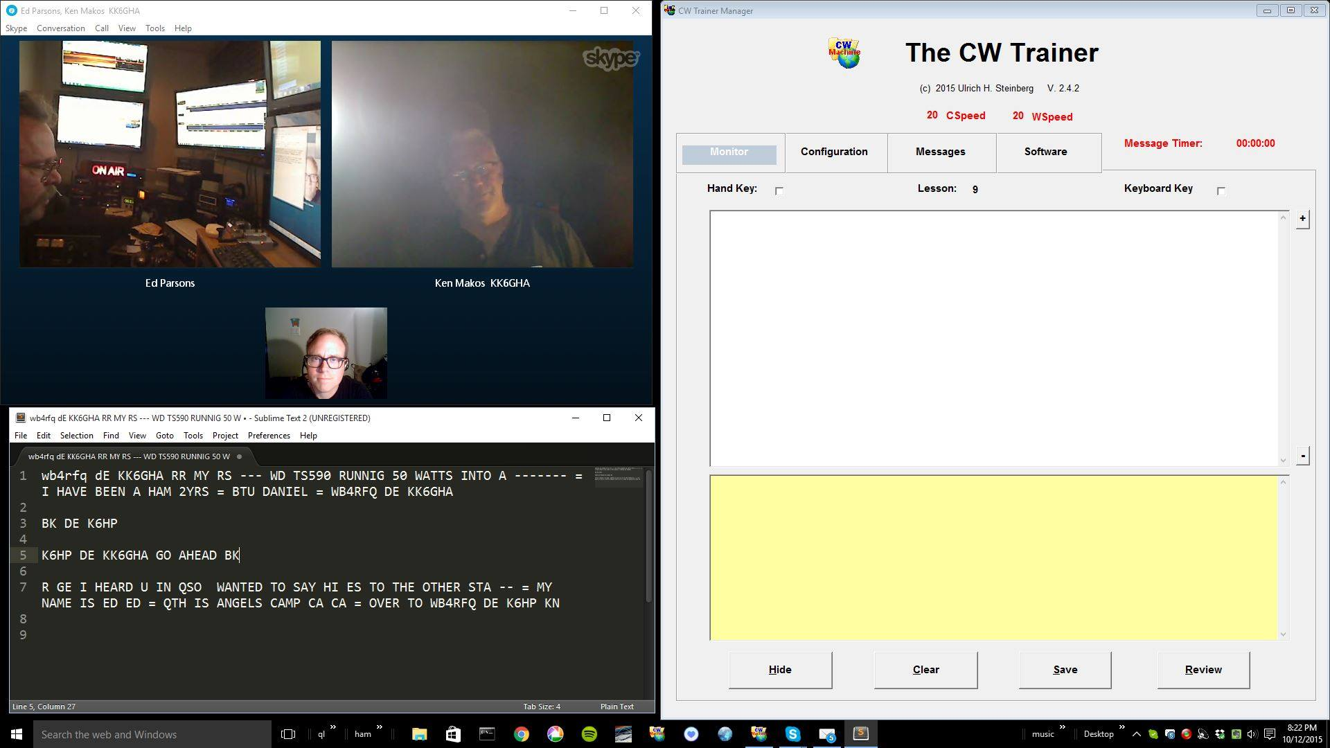 CW Academy in session.