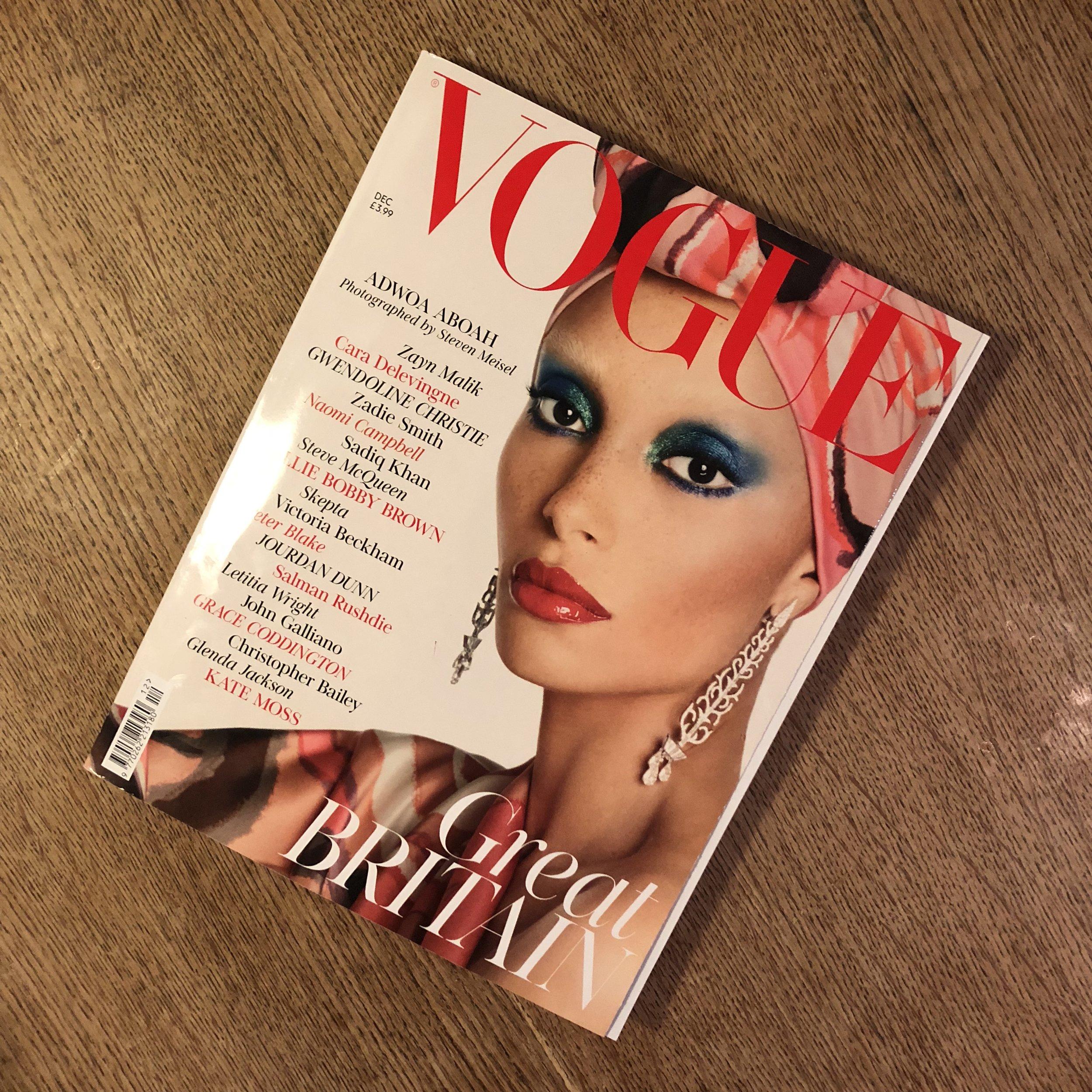 The original and best! British Vogue Dec 2017.