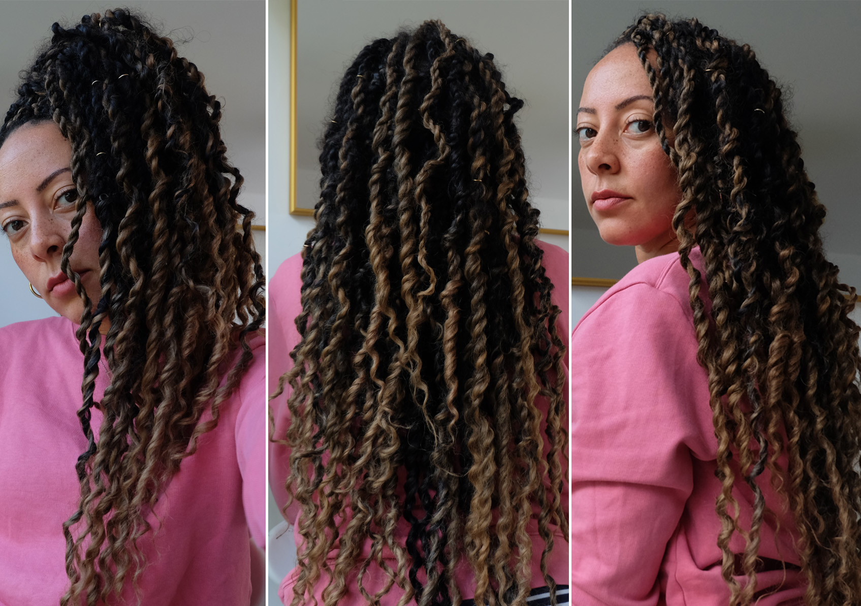 Boho passion twists with ombre and mixed hair