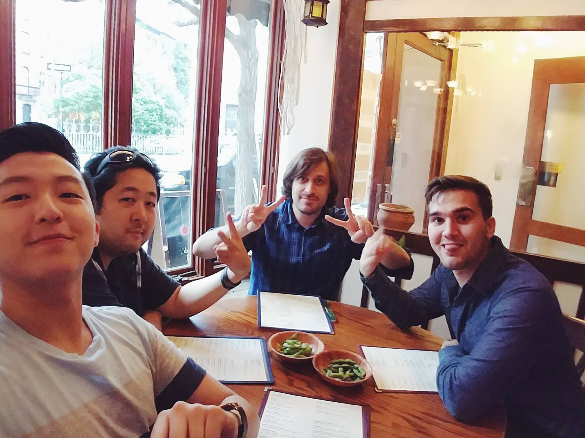The HumanBeatbox team grabbing dinner with our friend and founder of Beatbox Television