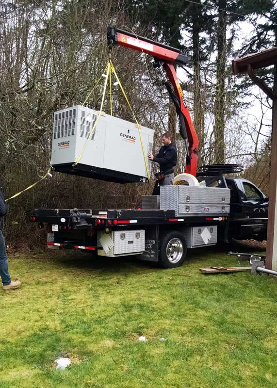 Generator is delivered