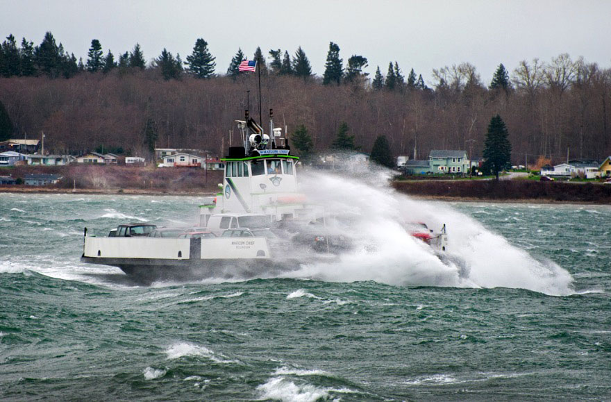 The  Whatcom Chief  in 60 mph wind on February 5, 2016. Photo credit  Edmond Lowe
