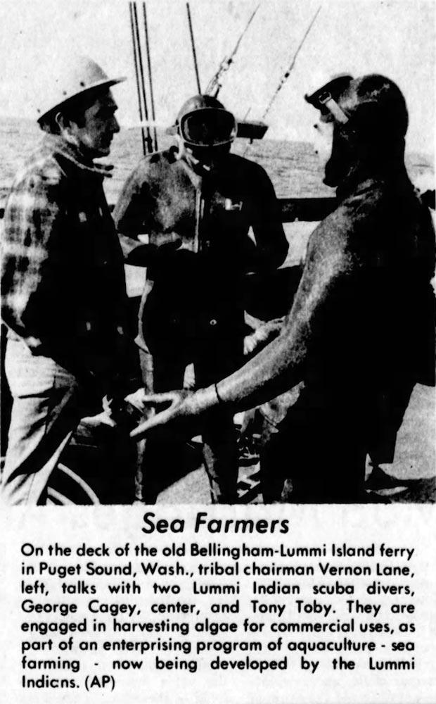 Vernon Lane (left)  The Sedelia Democrat,  February 7, 1971
