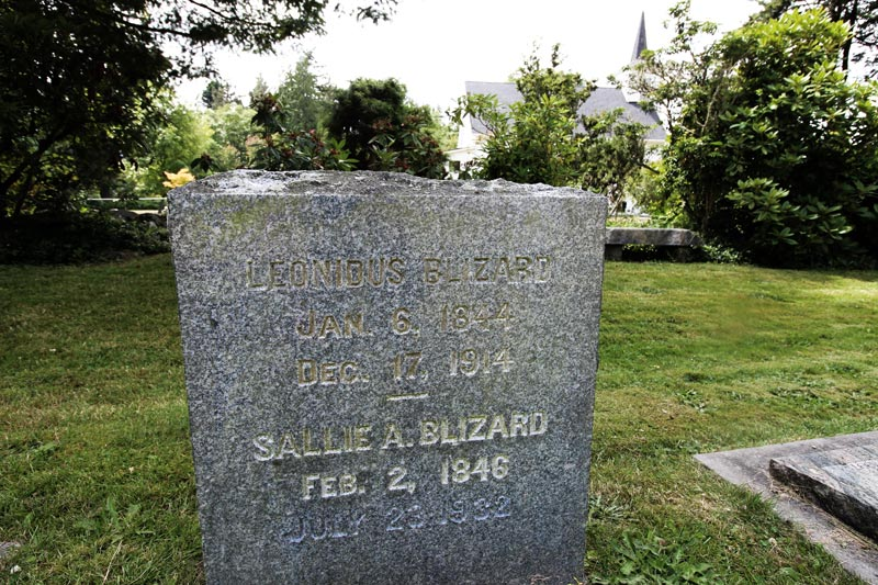 Sallie and Lon buried together in Lummi Island Cemetary