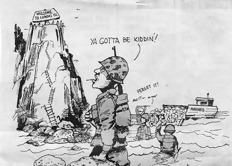 Cartoon in the  Sunday Herald July 11, 1976