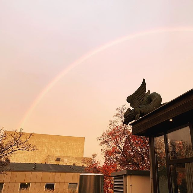 A great way to start Day 1 of @museumconstruction 2018 in Berlin! A rainbow over the Dragon House @westingrandberlin #hauckmeetings #imcc2018 #museums #design #architecture #berlin #meetingplanners
