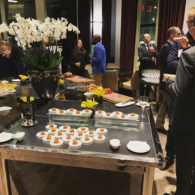 After a great day of sessions at IOLC attendees are enjoying great food, wine and conversation. #hauckmeetings #milan #networking #aperitivo #oncology #meetingplanners