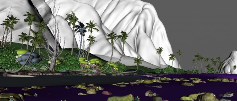 (Image: Disney's Motunui Island when opened in 3D software)