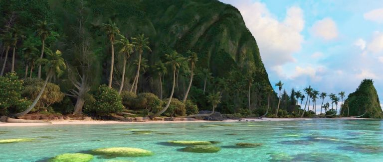 (Image: Disney's Motunui Island when rendered)