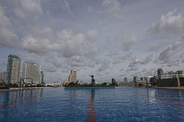 Pool at the Chatrium Bankok.jpg