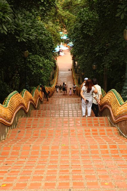 Stairs down at Doi Sutep Temple Chiang Mai.jpg