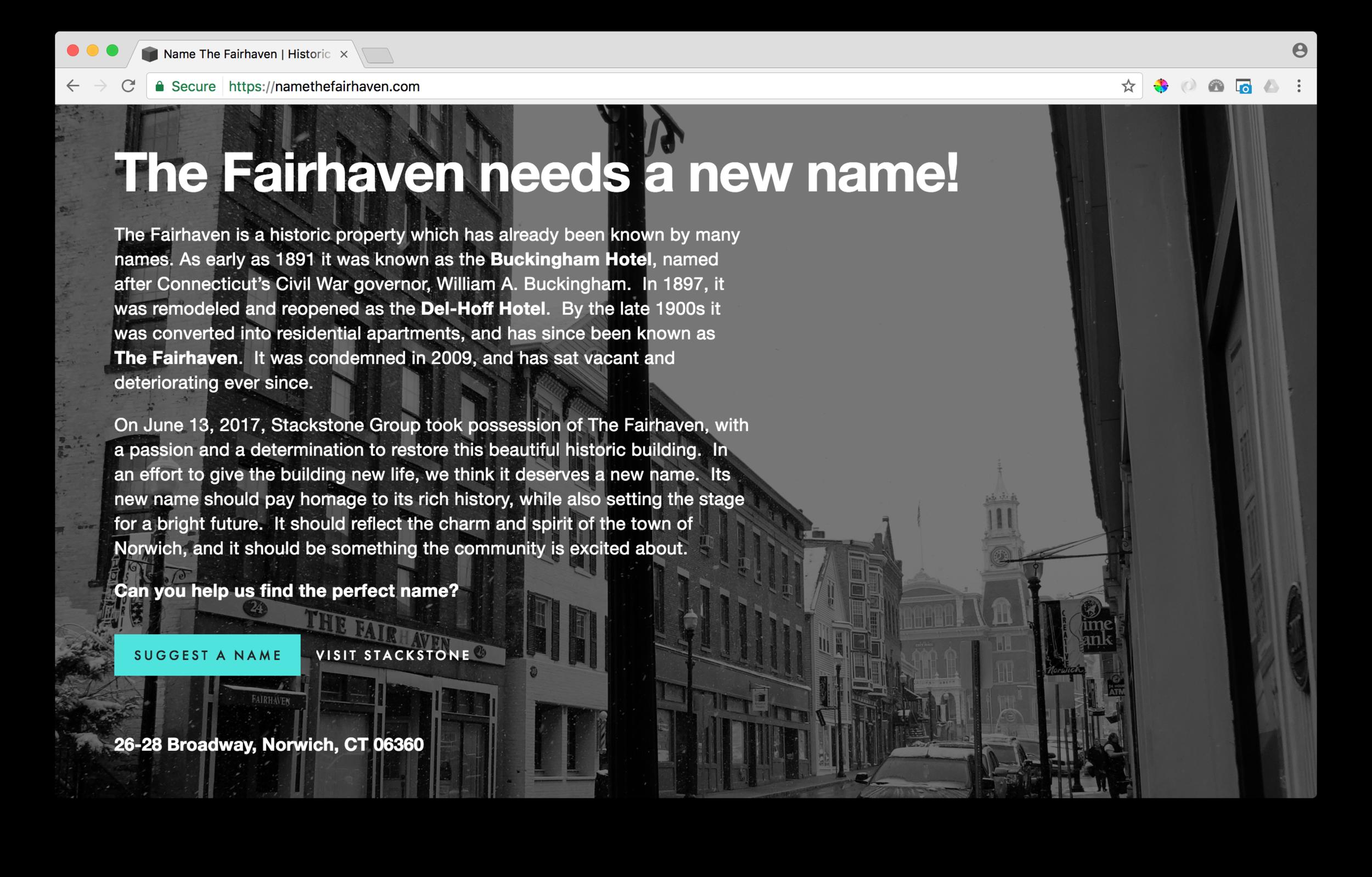 - namethefairhaven.com