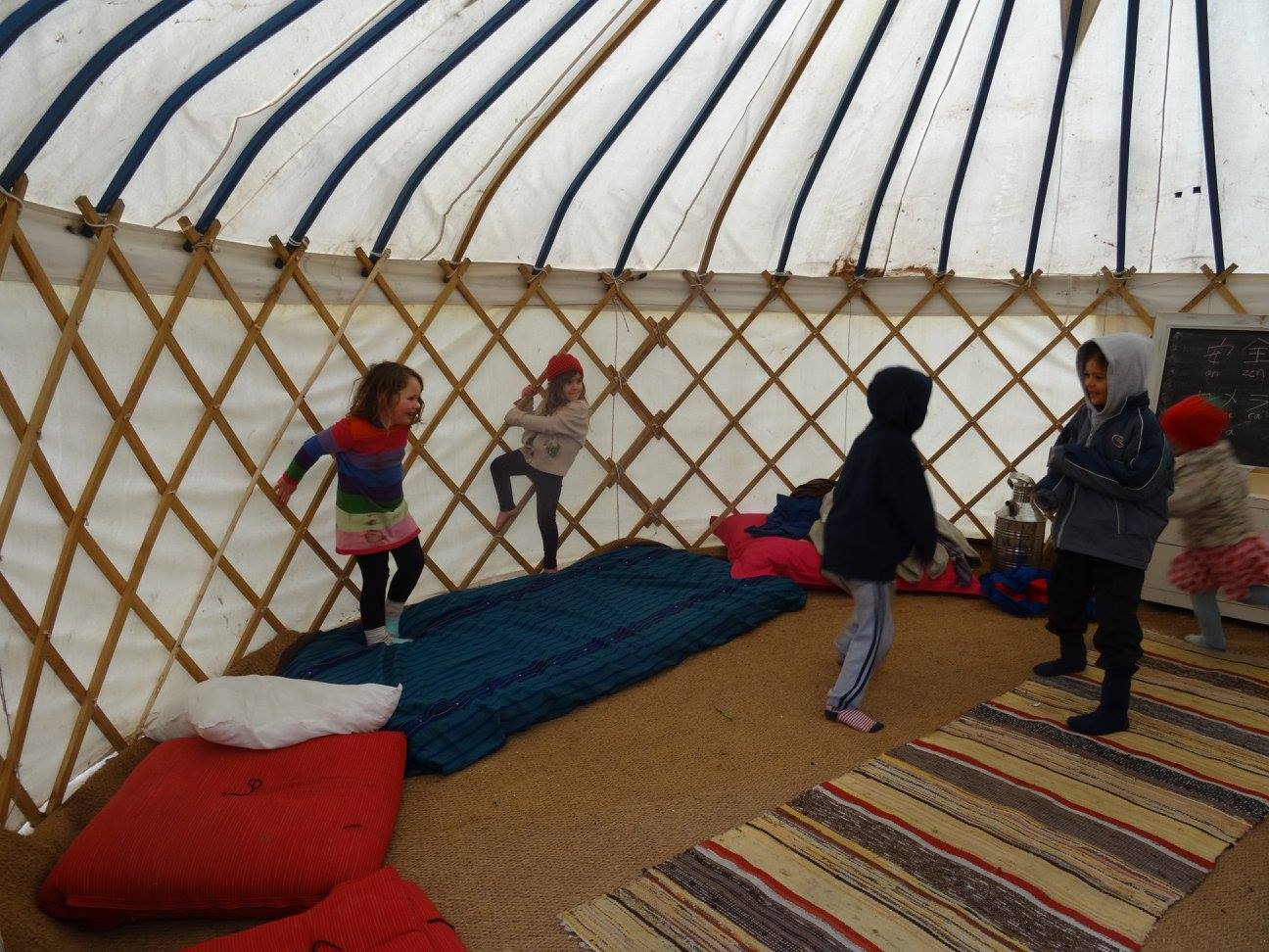 Yet another game of tag in the yurt