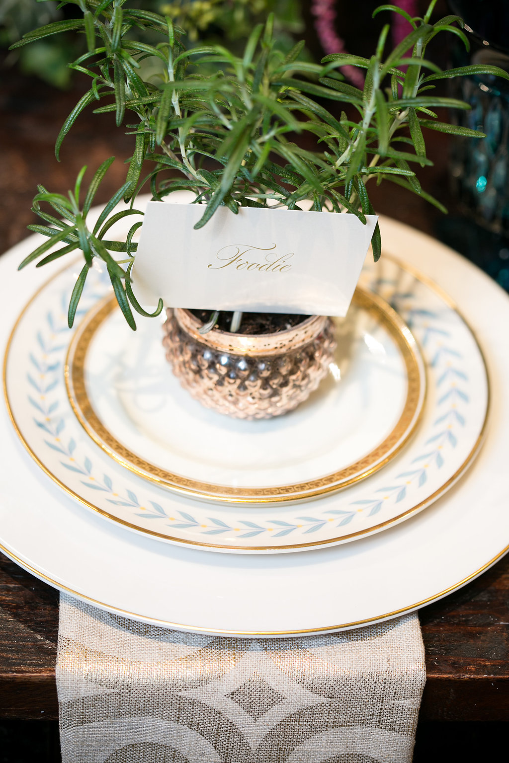 Genevieve Lauren Photography  |  Design that Flies  |  Atmosphere Event Group  |  Vintage Place Settings  |   Sugar Fixe  |  The Simply Elegant Group