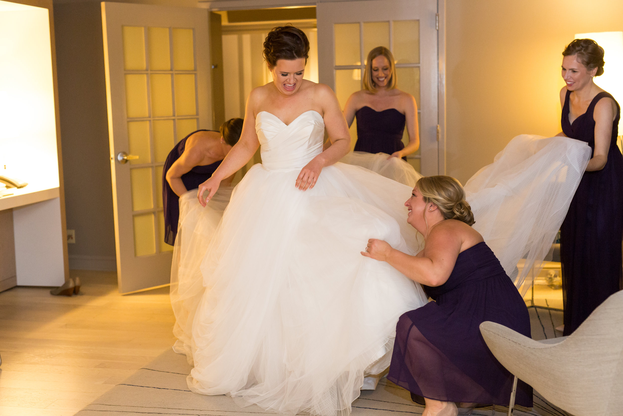 Vendors:Venue: Aria  | Photography: Studio 220 | Beauty: Primped | Catering: Chowgirls | Floral: Grace Klein Design | Rentals/Decor: Linen Effects | Cake: Cocoa & Fig | Ceremony Music: Lake String Quartet  | Officiant: Positively Charmed | Reception Entertainment: Adagio