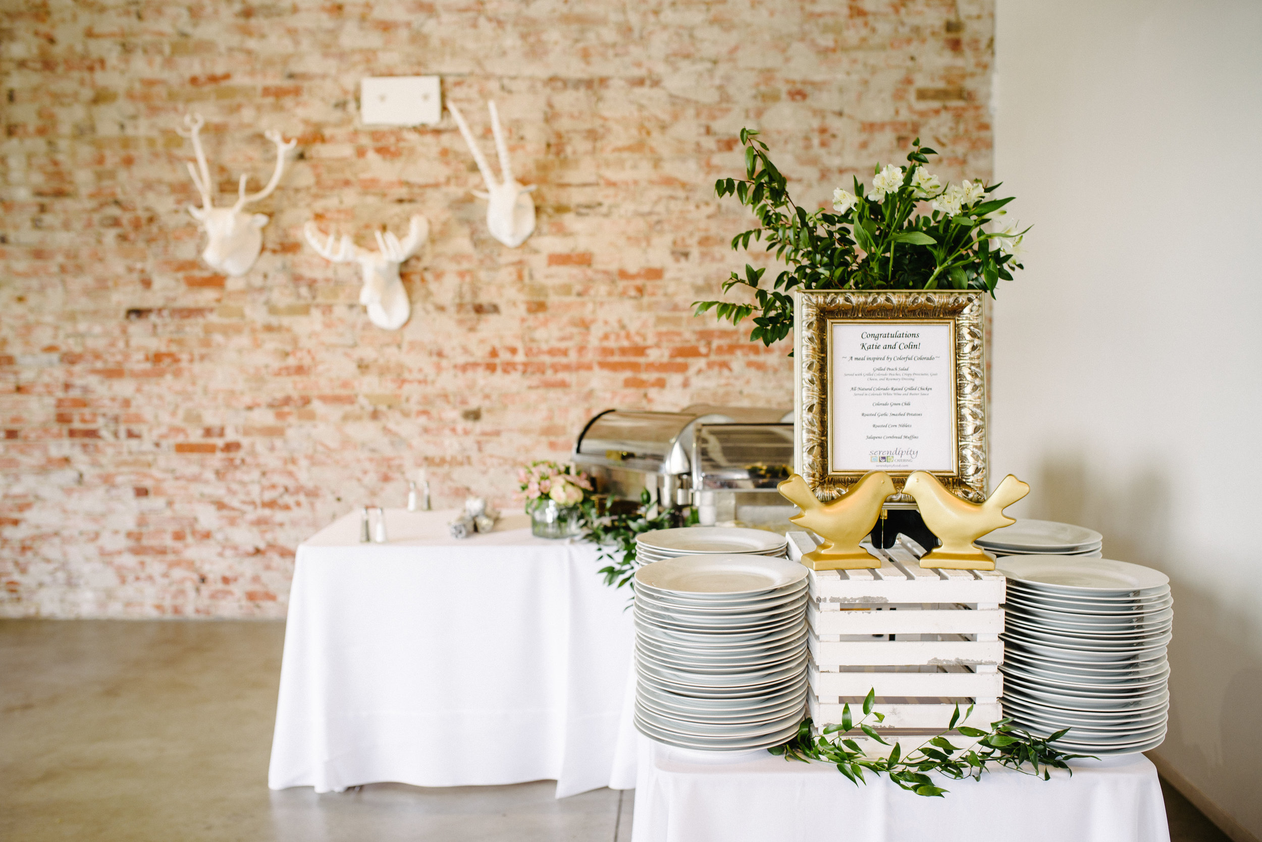 Vendor List: Planner + designer:  Taylor  | Hotel:  The Brown Palace  | Photographer:  Ryan Dearth Photography  | Dress:   Priscilla of Boston   | Venue:  blanc  | Florals: DIY / Costco | Caterer:  Serendipity  | Officiant: family friend | Bar:  Peak Beverage  | Speakers / sound:  Denver Premier Rentals