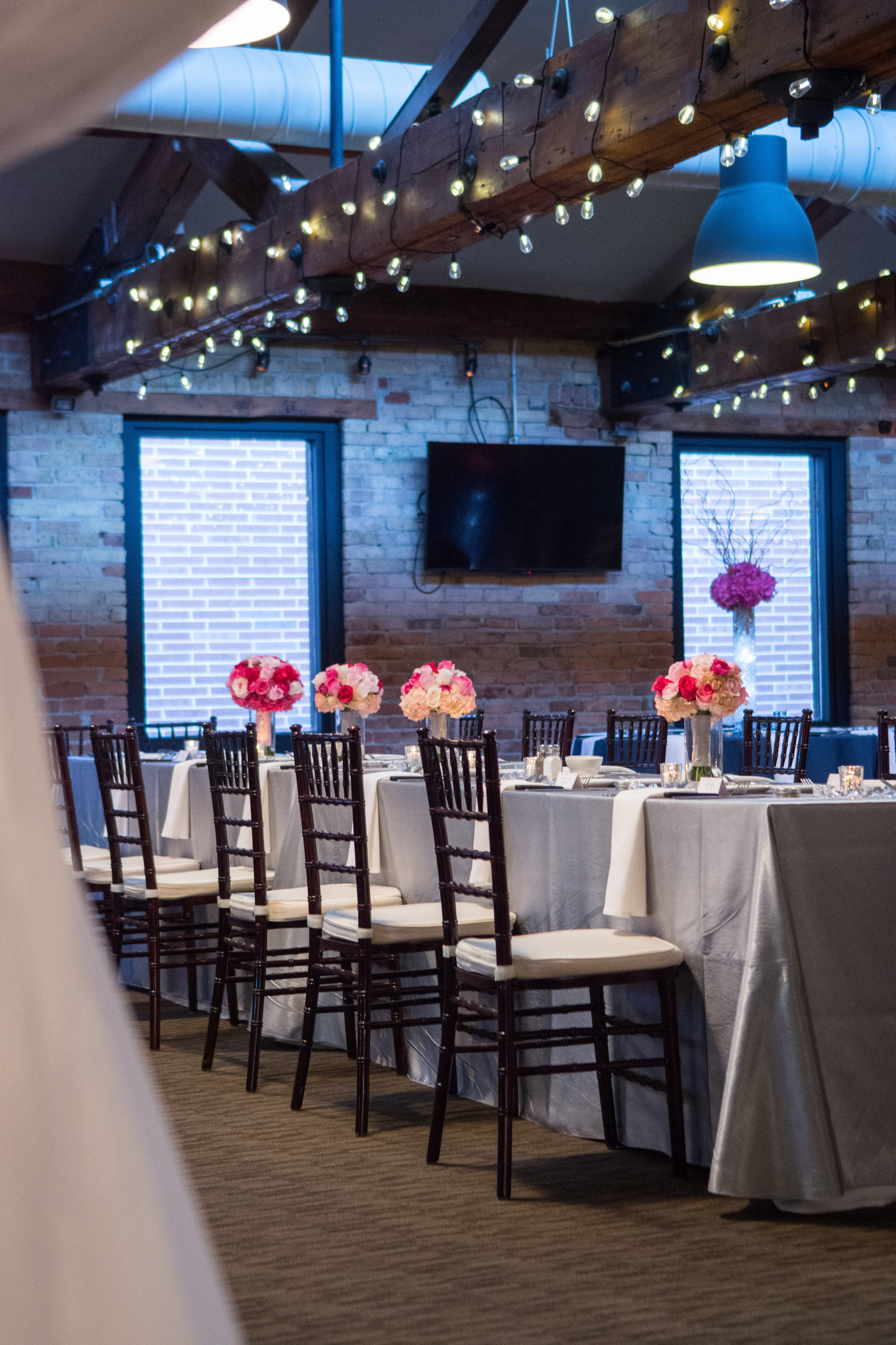 Photography: Coopersmith Photography   Planner: The Simply Elegant Group   DJ: Adagio Djay Entertainment   Bakery: Cocoa and Fig   Dress Designer: JenMar Creations   Floral Designer: Julia's Blooms   Event Venue: The Riverside Room at Minneapolis Event Center