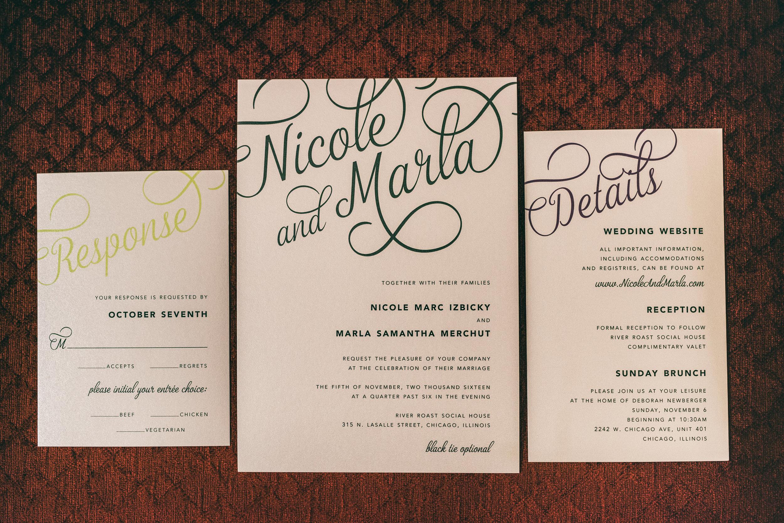 Same sex wedding invitations