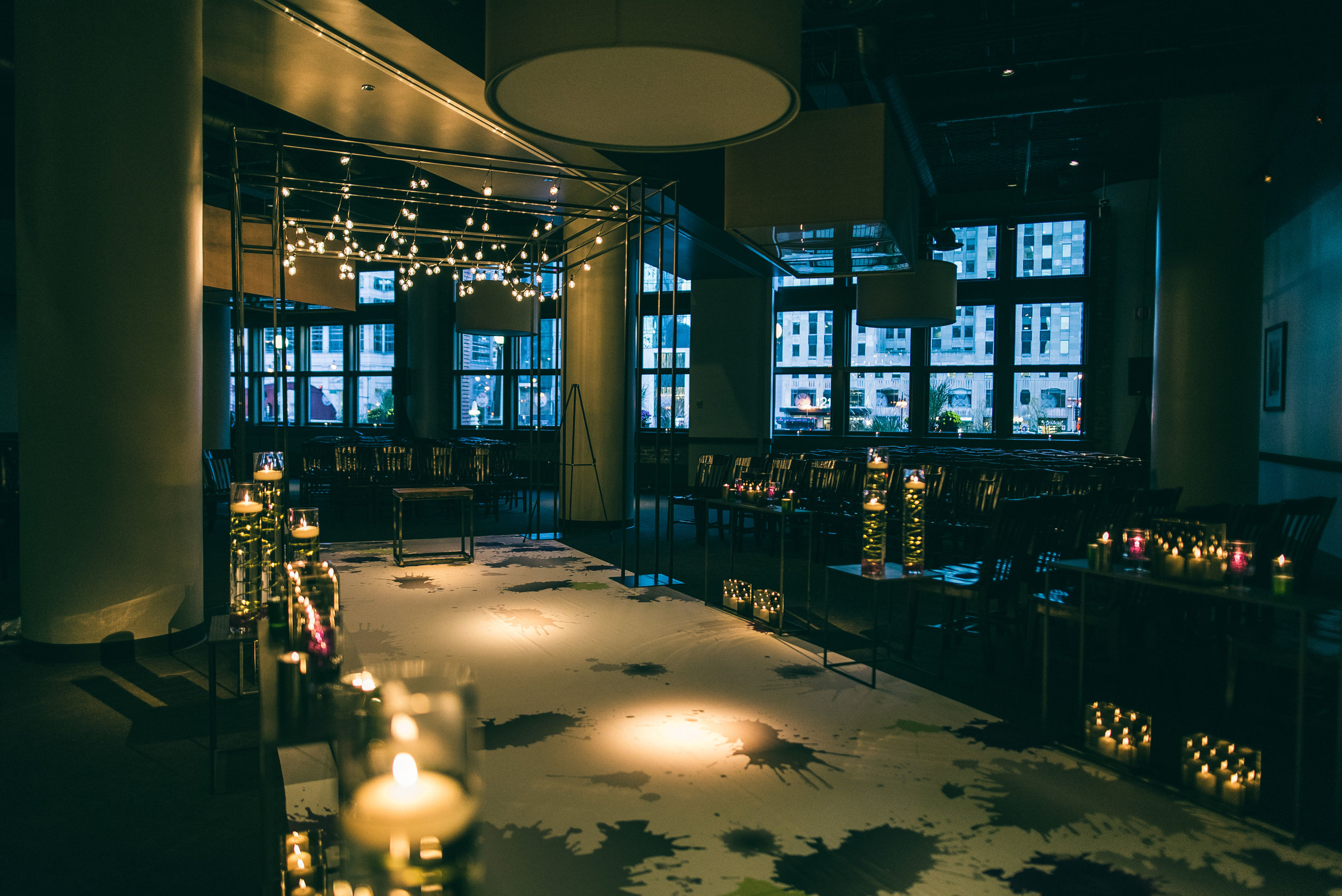 Jewish wedding ceremony at River Roast Social House in Chicago