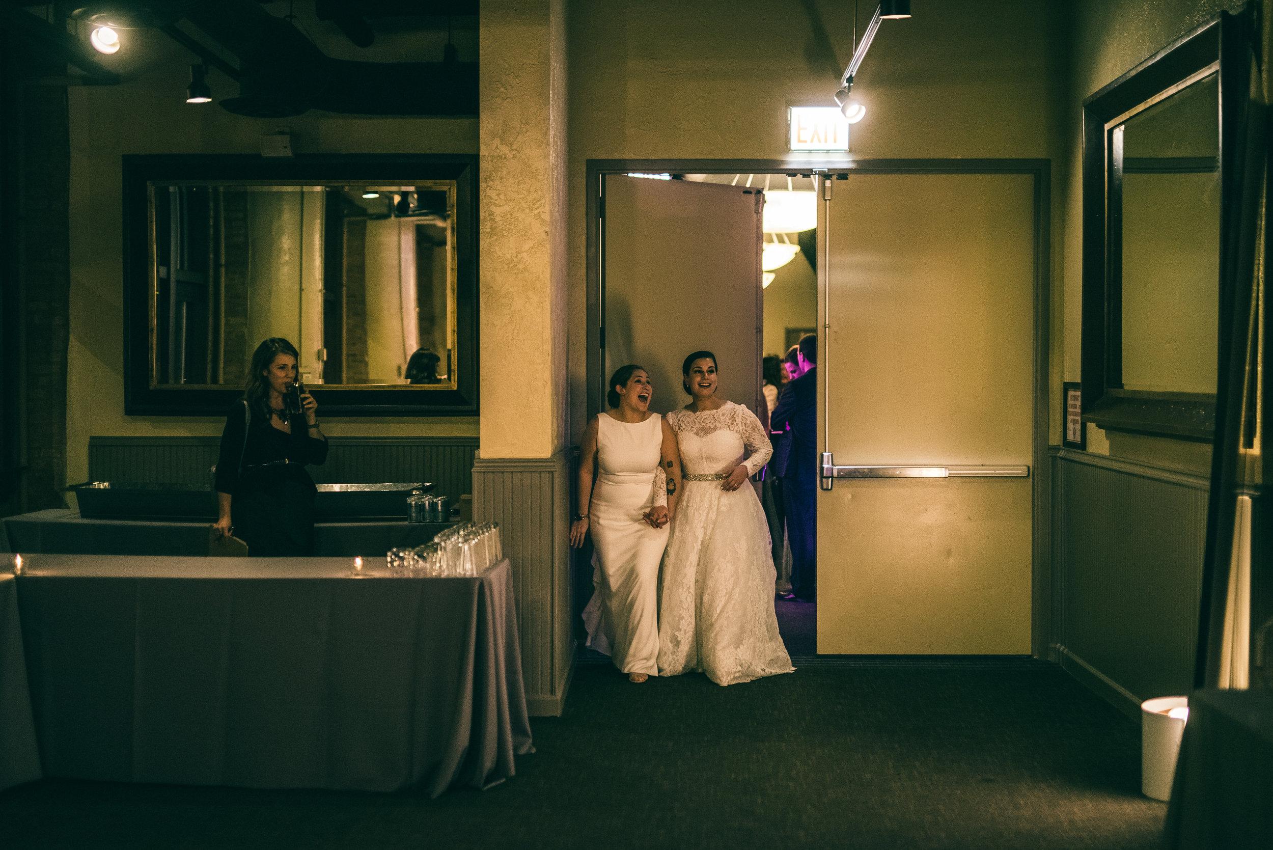 Brides first look at reception venue