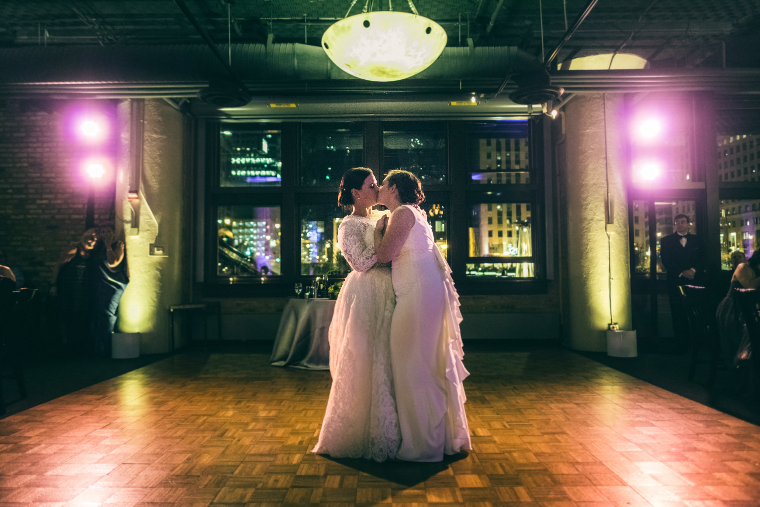 First dance during Jewish wedding reception at River Roast Social House