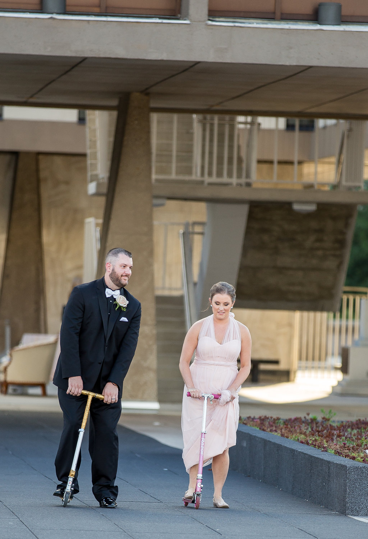 Bridal party entrance, The War Memorial Center, Milwaukee, Wisconsin