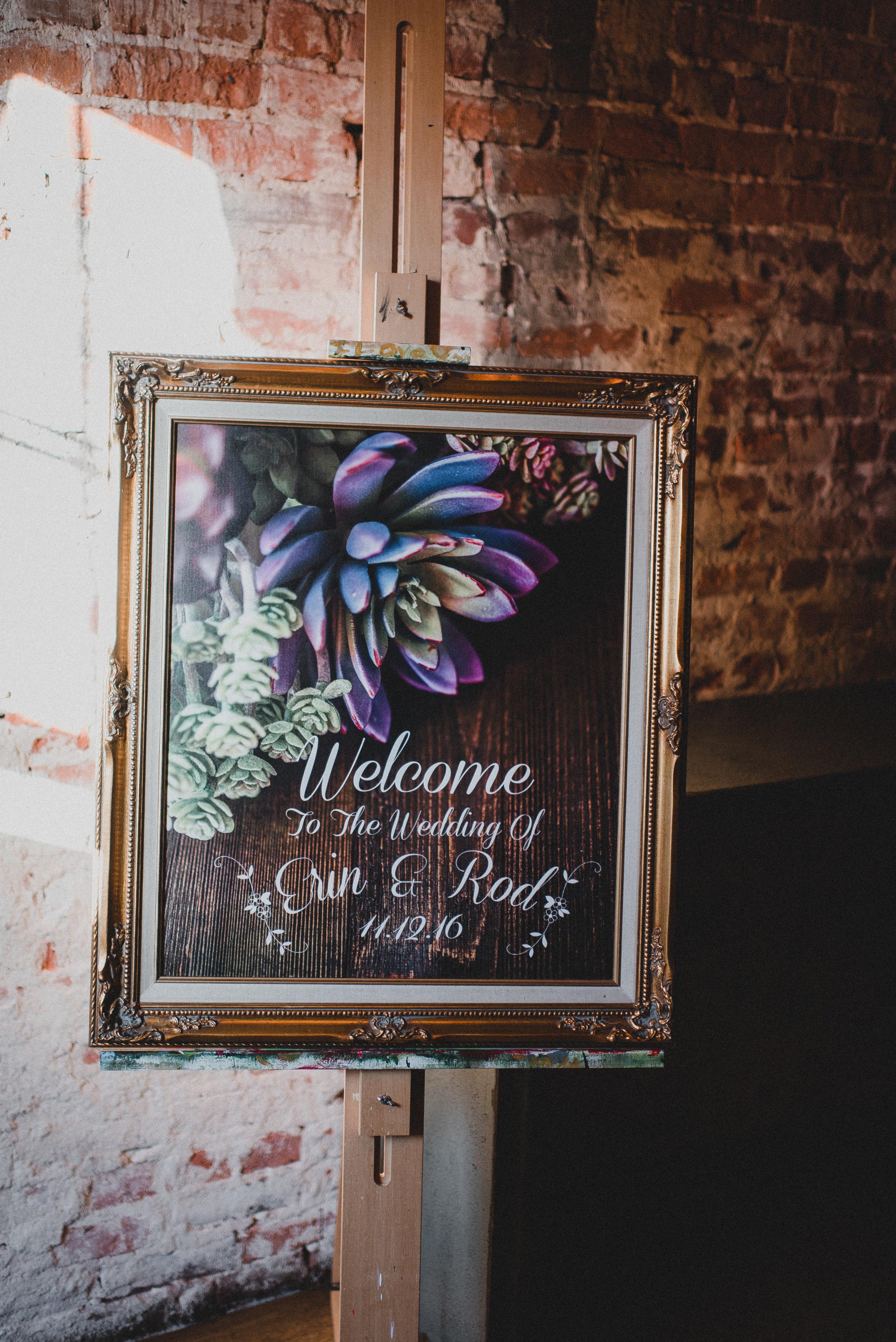 Custom Succulent Signage