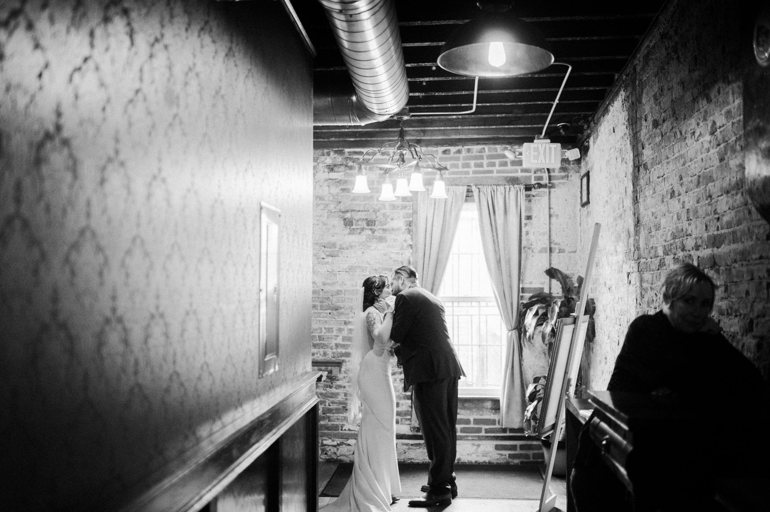 Post Ceremony Kiss