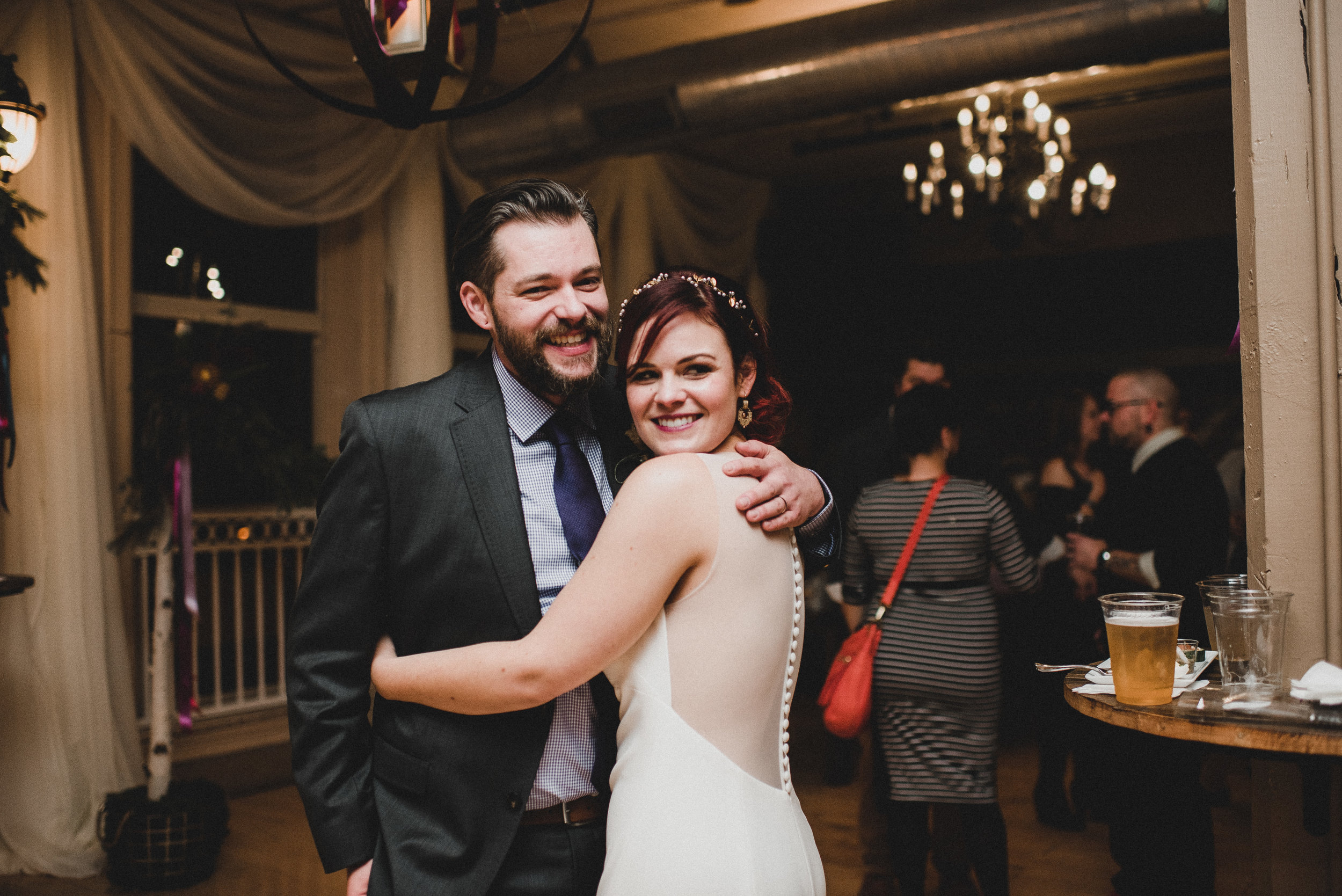 Newlyweds at Reception