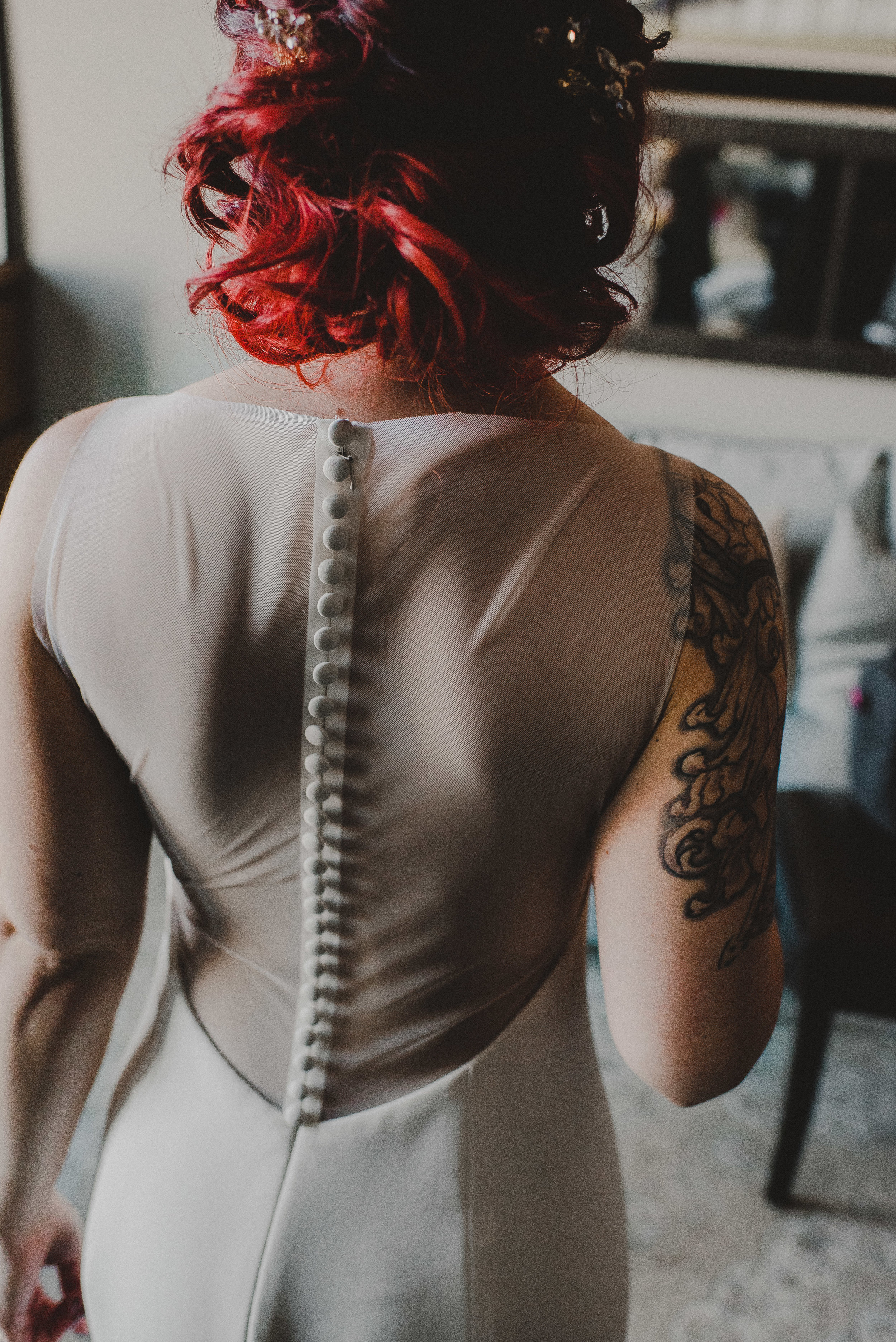Illusion Back Gown