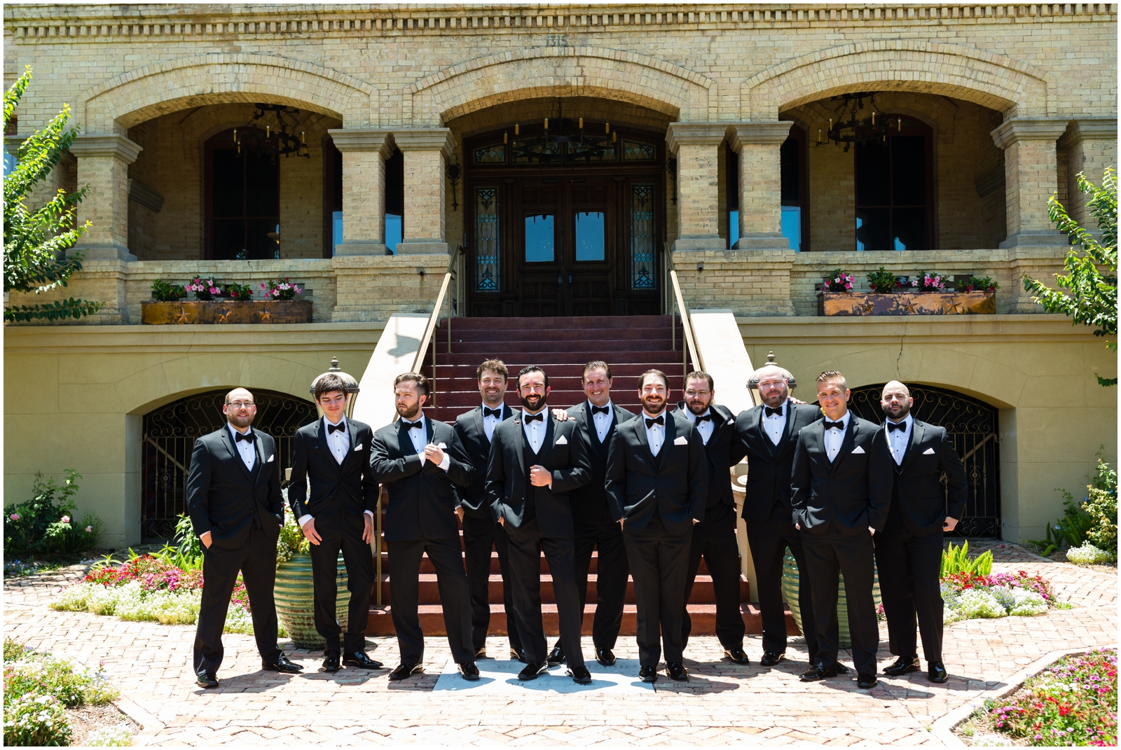 groomsmen at the Bryan Museum Galveston