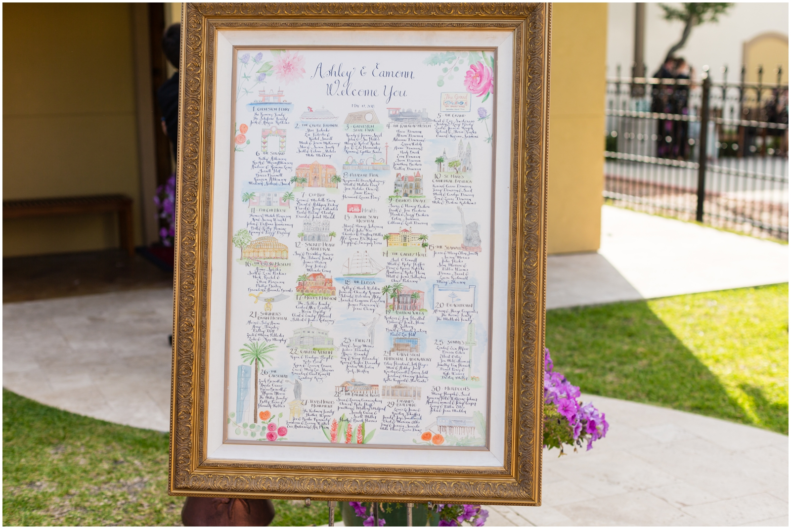 seating chart decor frame
