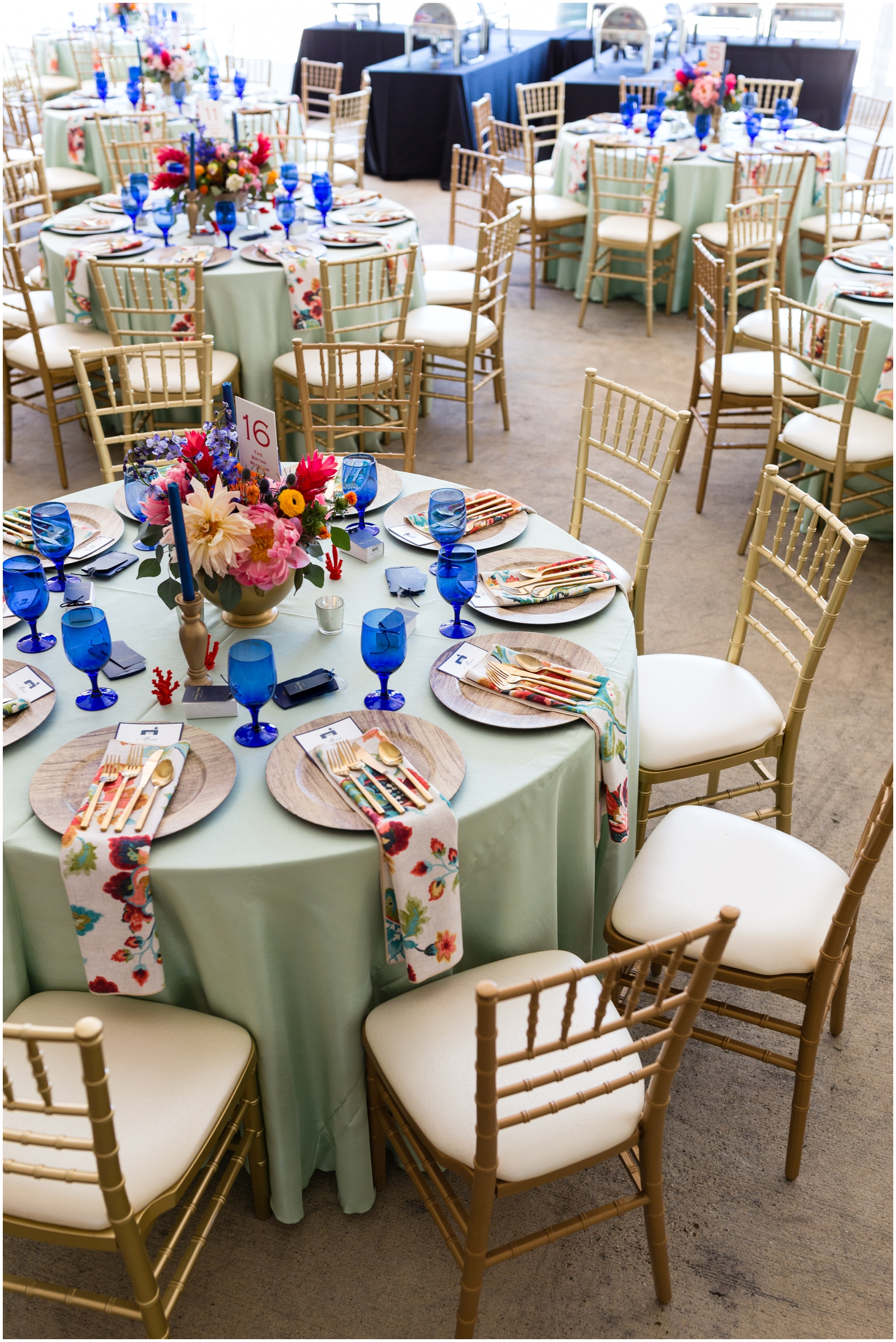 colorful wedding table set