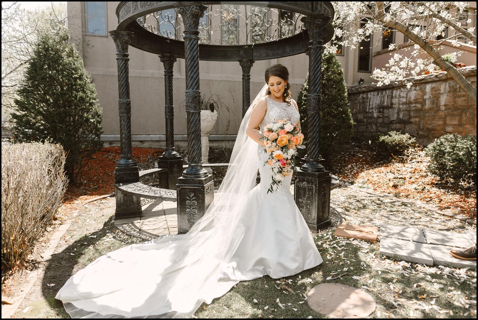 bride portrait in MN