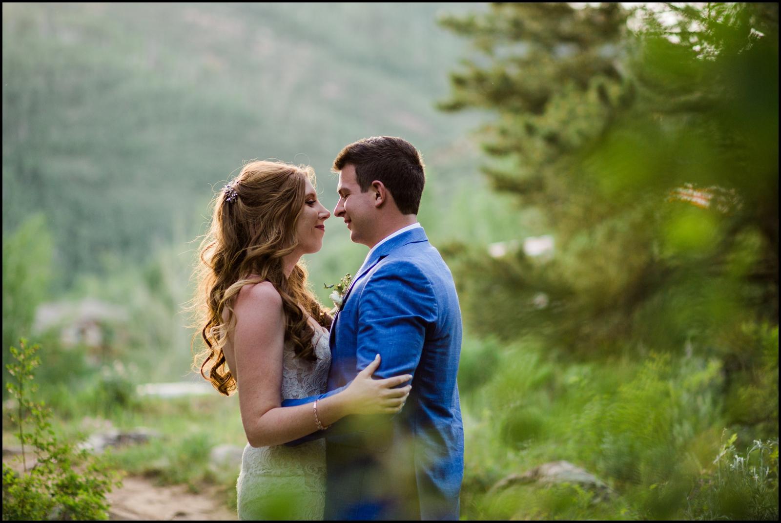 Bride and groom portrait in Colorado