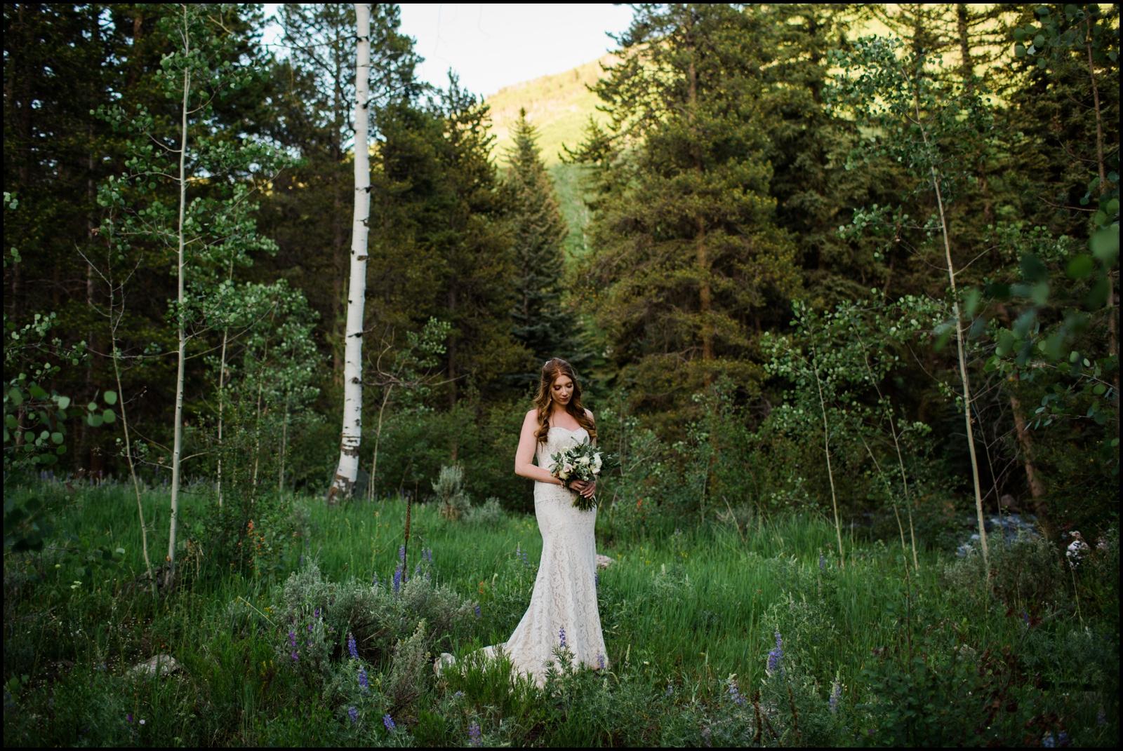 Bride portrait in Colorado