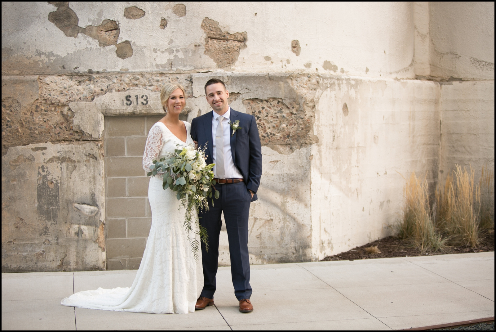 Bride and groom before their wedding