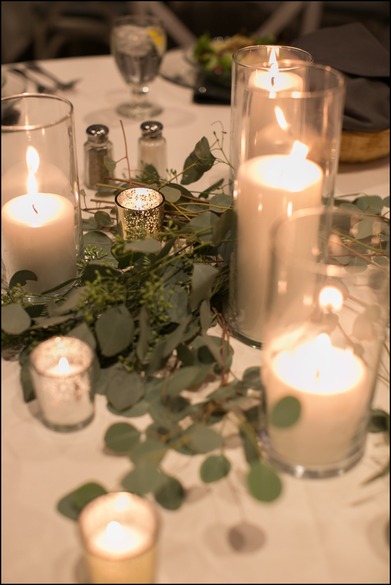 Candelit wedding decor