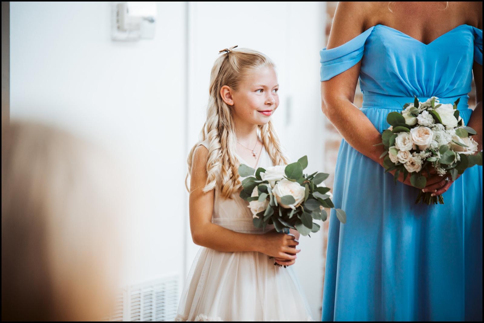 Flower girl during ceremony