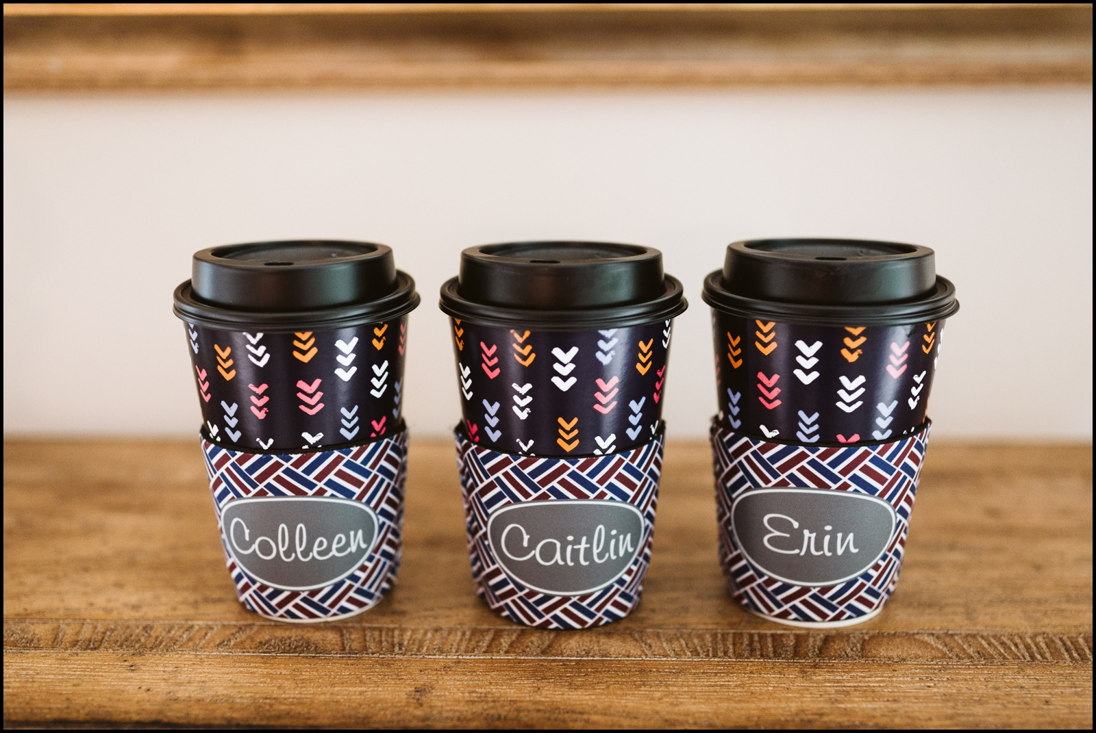 Coffee comes for the bridesmaids