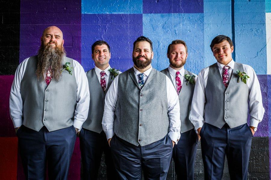 Groomsmen and the groom