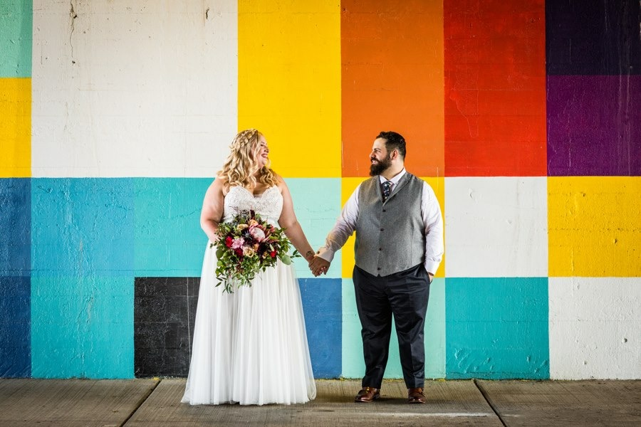 Colorful wall backdrop