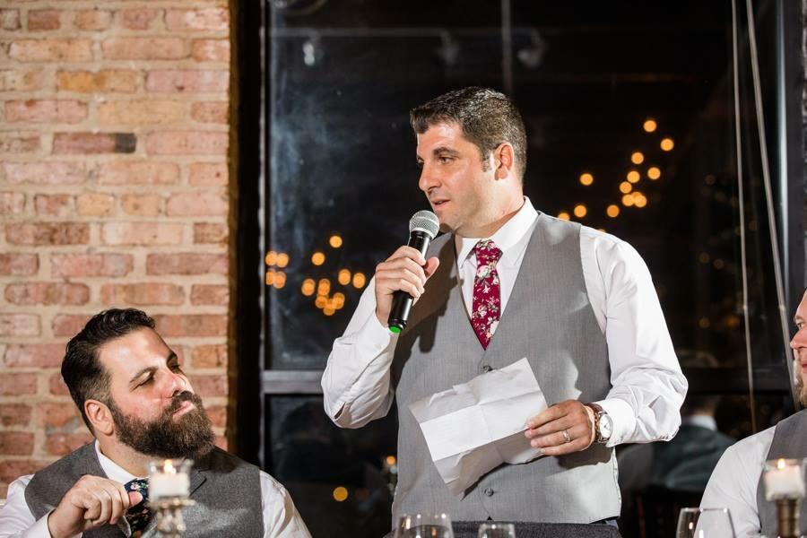 Guest speech during reception