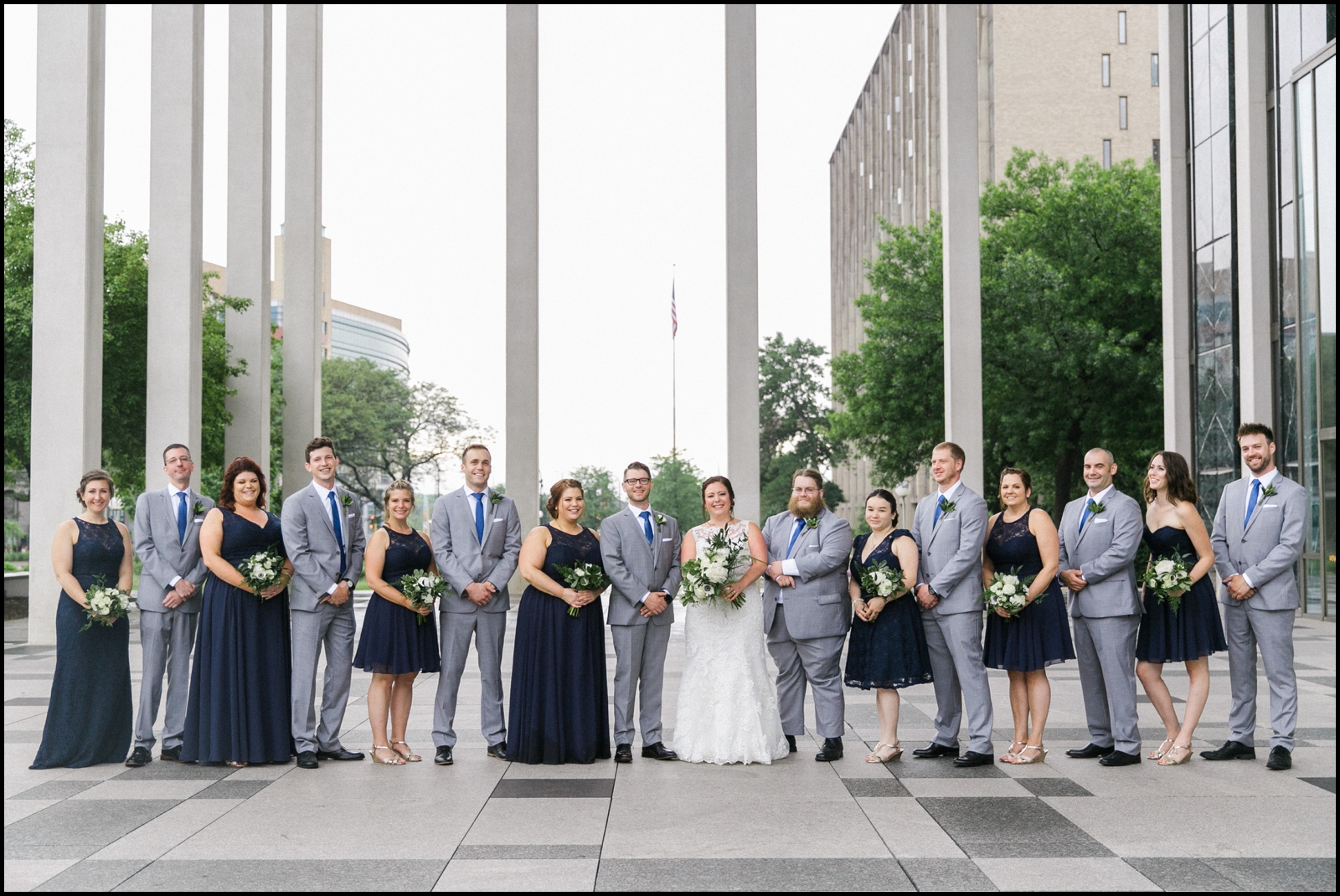 Bridal party before the wedding