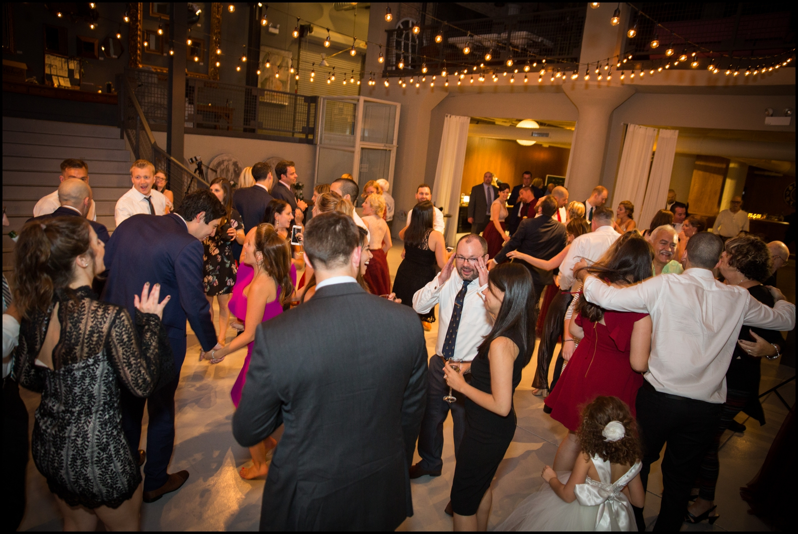 Wedding Guests Dancing at Chicago Wedding