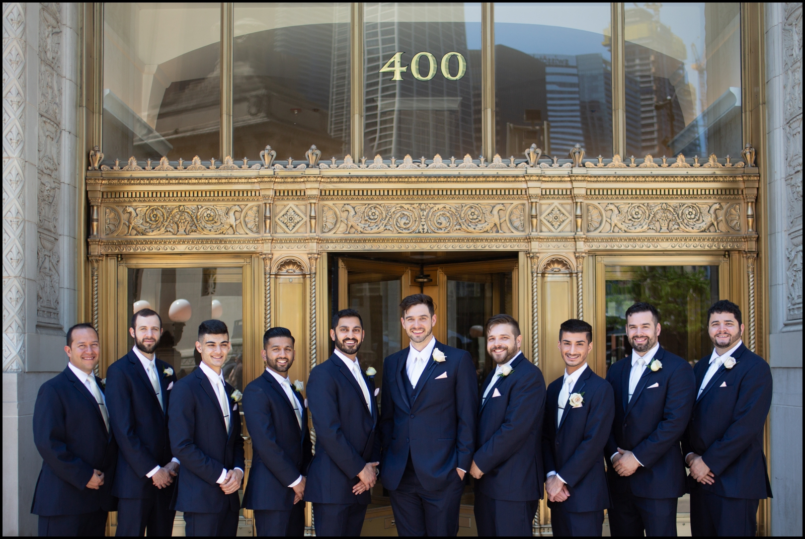 Groom and groomsmen before the wedding